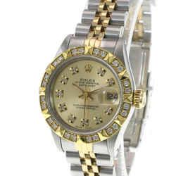 Rolex Datejust Champagne Diamond Dial Diamond Bezel 26mm Watch