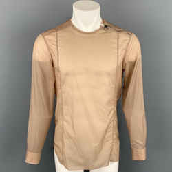 LANVIN Size S Tan Polyamide Blend Side Zipper Long Sleeve Shirt