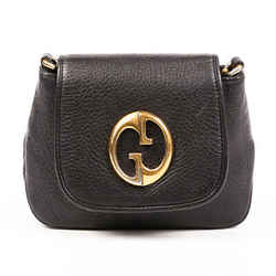Gucci Bag 1973 Black Pebbled Calfskin GG Crossbody