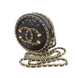 Black Chanel CC Filigree Caviar Leather Crossbody Bag