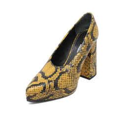 Proenza Schouler Yellow Black Snake Skin Heels sz 38