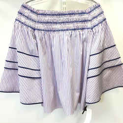 Women's Parker Striped Off The Shoulder Top. Size S