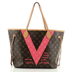 Neverfull Nm Tote Limited Edition Cities V Monogram Canvas Mm