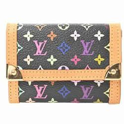 Auth Louis Vuitton Louis Vuitton Multi Porto Monepura Black Wallet Multicolor Pv