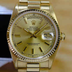 Rolex Day Date 18K Factory Champagne Dial 36mm Watch