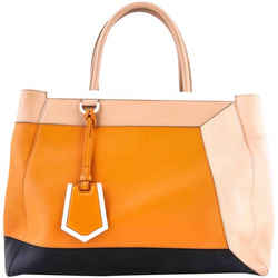 Fendi 2Jours 3-D Colorblock Leather Tote Bag