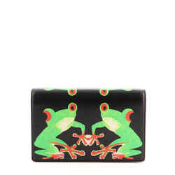 Clutch on Chain Printed Leather Small