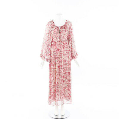 Zimmermann Floral Print Silk Maxi Dress