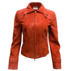 Akris Punto Red Suede Jacket