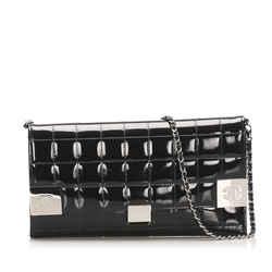 Vintage Authentic Chanel Medium Classic Patent Leather Double Flap Bag