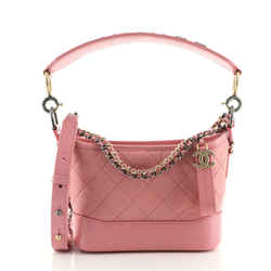 Gabrielle Hobo with Logo Handle Quilted Aged Calfskin Small