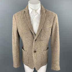 MARTIN MARGIELA Size L Oatmeal Heather Wool Notch Lapel Sport Coat