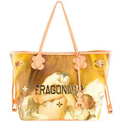 Louis Vuitton x Jeff Koons | Fragonard Salmon Neverfull MM, Coated Canvas