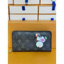 Louis Vuitton Panda Takashi Murakami Zippy Wallet Clutch Rare Limited Edition 7.5L 4H