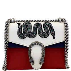 Gucci Dionysus Mini Crystal Embroidered Snake Shoulder Bag Red
