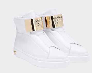 New Versace Palazzo White Leather