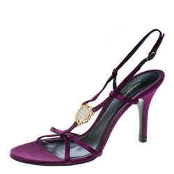 Dolce and Gabbana Purple Satin Sandals Size 40