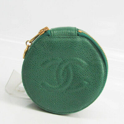 Chanel Jewelry Case Green Caviar Leather FVEL000069