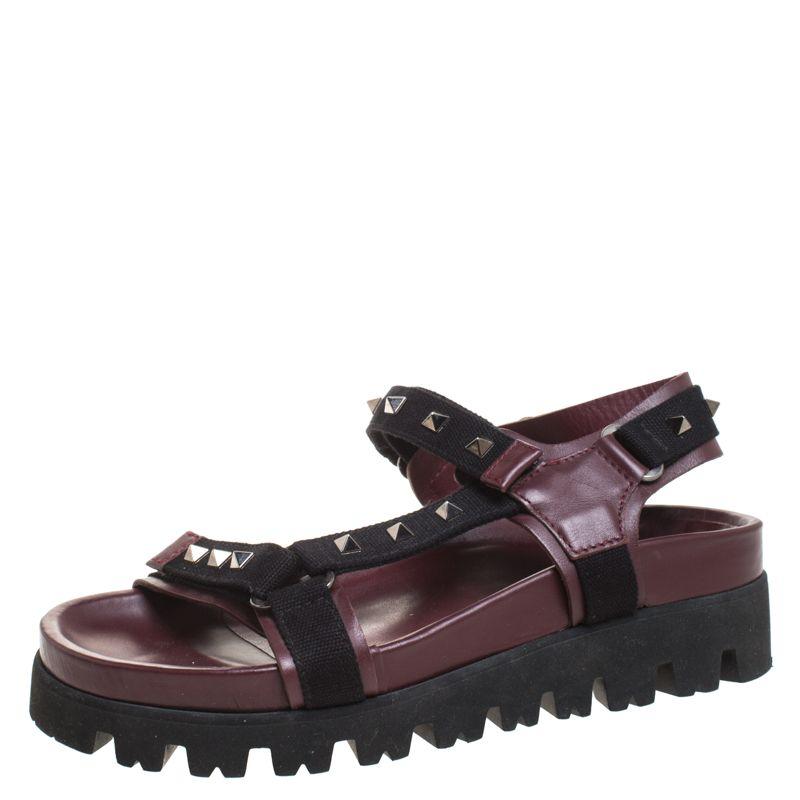 valentino burgundy shoes