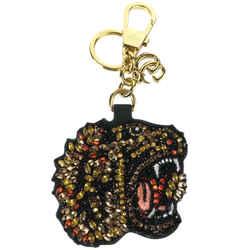 New/authentic Gucci Rhinestone Tiger Keychain, Multicolor