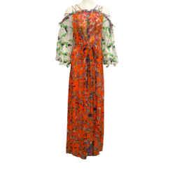 Tory Burch Dutel Floral Shasta Casual Maxi Dress