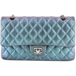 Chanel Iridescent Green Double Flap Limited Edition