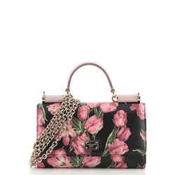 Sicily Wallet on Chain Printed Leather Mini