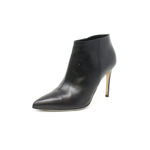 Gucci Black Leather Booties Sz 37