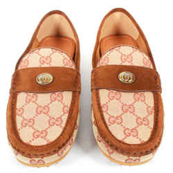 Gucci - NEW Bee Brown Drivers Loafers Tan GG Monogram Print - Men's US 7 - IT 6