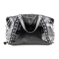Michael Kors Coated Leather Sadie Shoulder Bag Black Medium Authenticity Guaranteed
