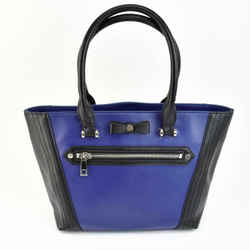"LANVIN ""en Bleu"": Royal Blue/Black, Logo Medium Tote/Shoulder Bag (mo)"