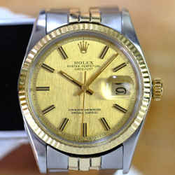 Rolex Mens Datejust Champagne Dial 36mm Watch-ALL FACTORY