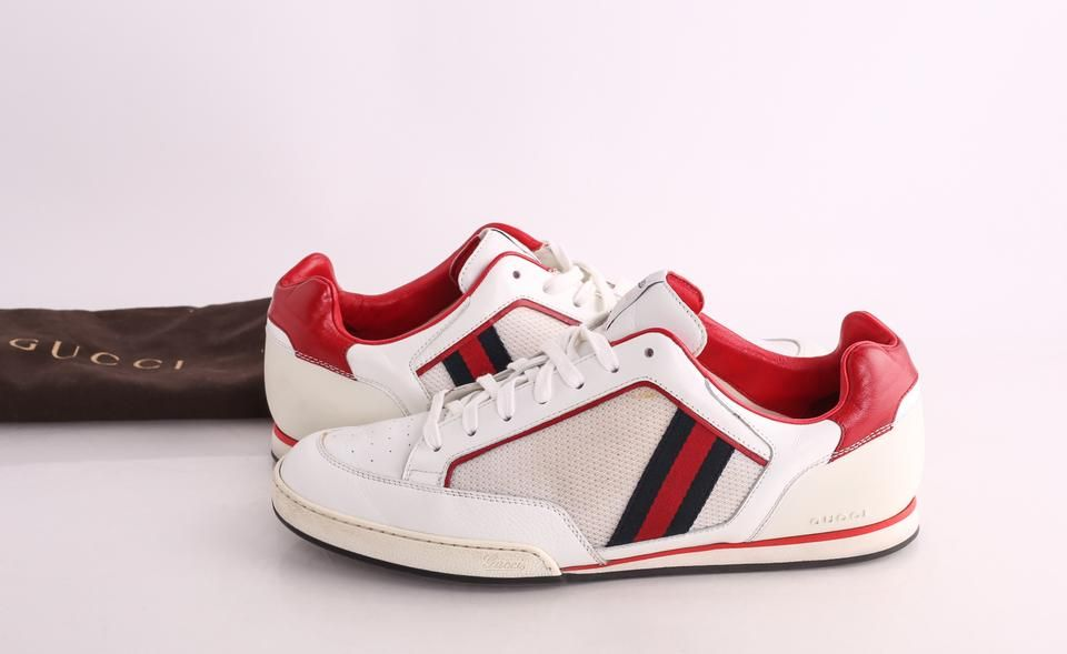 Gucci Web Tennis Trainers Leather