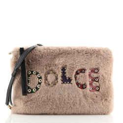 Cleo Crossbody Bag Embellished Faux Fur