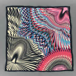 MISSONI Multi-Color Zig Zag Silk Pocket Square