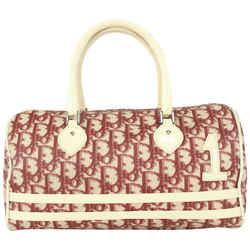 Dior Burgundy Monogram Trotter Girly Chic Boston Bag 111da728