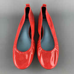 Lanvin Size 10 Red Patent Leather Ballet Flats
