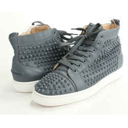 Christian Louboutin Suede Louis Spike High Top Sneakers