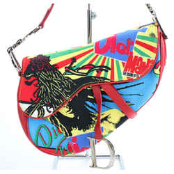 Christian Dior Canvas Bob Marley Saddle Bag