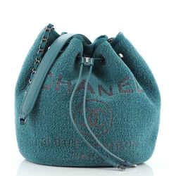 Deauville Drawstring Bucket Bag Velvet Medium
