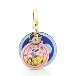 Round Bag Charm and Key Holder Limited Edition Cities Colored Monogram Giant