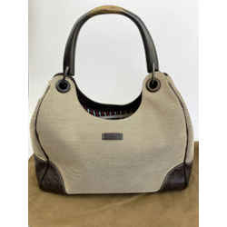 Gucci Tan / Brown Guccissima Wooden Handle Purse