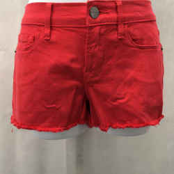 Frame Red Jean Shorts 23