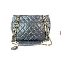 Chanel Black Quilted Lambskin CC Gold Chain Tote 4CC859