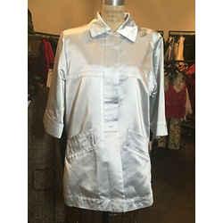 Yves Saint Laurent Size 36 Baby Blue Polyester Shift Dress Vintage - 1-236-8219