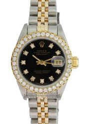 Rolex Lady Datejust Diamond Dial Diamond Bezel Approx 1.40CTW 26mm