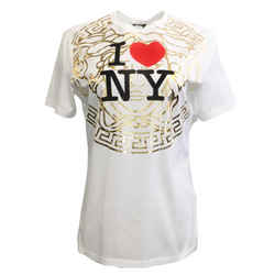 Versace White I Love New York Tee Shirt