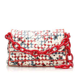 White Bottega Veneta Intrecciato Leather Handbag Bag