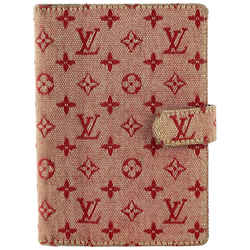 Louis Vuitton Cerise Monogram Mini Lin Small Ring Agenda 12LVA1022