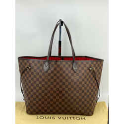 Louis Vuitton Neverfull GM Damier Ebene Tote Bag N51106  A526 Hot Stamped O.A